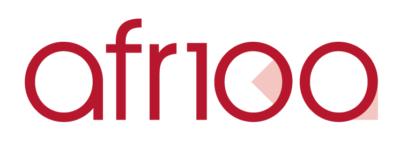 AFR100 logo with border